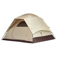 Eureka! Tetragon HD 3 - 3-Person, 3-Season Waterproof Family Camping Tent – Lightweight Fiberglass Pole Construction - Java/Cement/Orange
