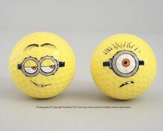 Despicable Me Minion Golf Balls Minion Mayhem Yellow Set of 2 NEW (7/6)