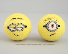 Despicable Me Minion Golf Balls Minion Mayhem Yellow Set of 2 NEW #hedgehogscorner