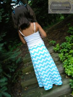 The Child Chevron Maxi Skirt  Girl's Maxi by needlenookbymarcy, $18.00