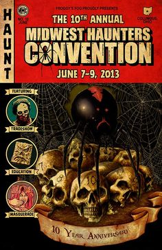http://scaryvisions.com/the-midwest-haunters-convention We get Kelly Collins on HaunTopic Radio to give you the details behind the Midwest Haunters Convention, all of the shows and events, and some news about the Scare-a-Torium Haunted Attraction.