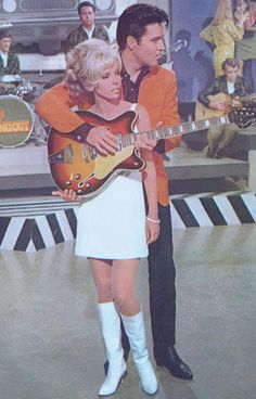 Nancy Sinatra and Elvis in Speedway (1968) - would have loved to been in that exact spot!! : )