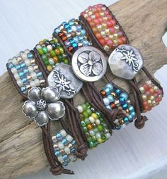 Leather wrap bracelets via Etsy.