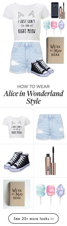 """Current feeling right meow :P"" by livelaughlove714 on Polyvore featuring Topshop, Cotton Candy and Benefit"