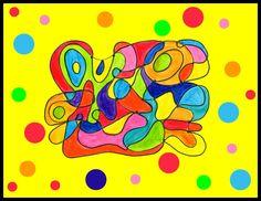 128_Composition abstraite_ De point à point (avec gommettesFOND JAUNE)-001