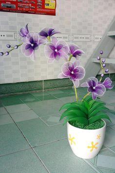 Hoa vải voan | Hoa giả, hoa đất sét