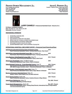 Basketball Assistant Coach Resume   Sales   Coach   Lewesmr SlideShare