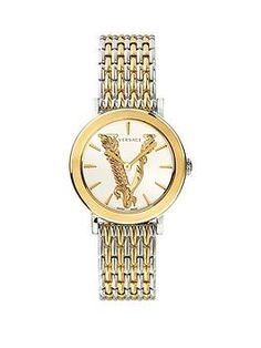 Versace Versace Virtus Sport Luxury Chain Strap Watch, One Colour, Women - One Colour - Versace Logo, Versace Versace, Versace Watches, Online Watch Shopping, House Of Versace, Bulova, Department Store, Stainless Steel Case, One Color