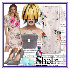"""""""Short Sleeve Floral Dress Shein"""" by mamiigou ❤ liked on Polyvore featuring Missoni, NLY Trend, Lanvin, River Island and Deborah Lippmann"""