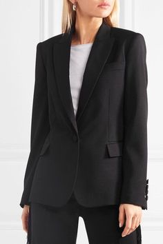 Stella McCartney - Wool-twill Blazer - Black - IT40