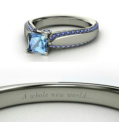 Disney Princess Jasmine inspired wedding ring, too cute!  I WANT IT!!!