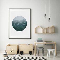 Nursery Wall Art Printable Forest Print Nursery Boys Room | Etsy
