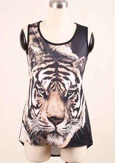 Printed Tiger tank Tops