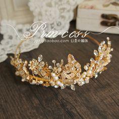 高端Twigs&Honey手工水晶淡水珍珠套夾簡約韓式新娘發飾頭飾-淘寶台灣,萬能的淘寶