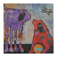 Abstract Dogs I Canvas Art Print