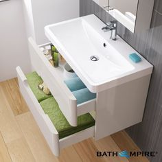 2 Door Gloss White Bathroom Furniture Sink Cabinet Vanity Basin Unit for sale online Sink Vanity Unit, Vanity Basin, Vanity Units, Bathroom Store, Small Bathroom, Family Bathroom, Bathroom Wall, Interior Door Trim, White Bathroom Furniture