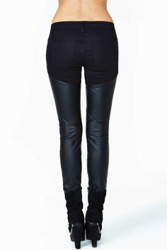 Tripp NYC Contraband Skinny Jeans | I love the look of black faux leather skinny jeans... on other people.
