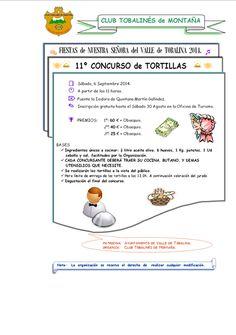 6/9 11º concurso de Tortillas. Quintana Martin Galindez 11:00h Fuente la Isidora