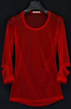 1995 Transparent Jersey T-Shirt with Slashed Sleeves