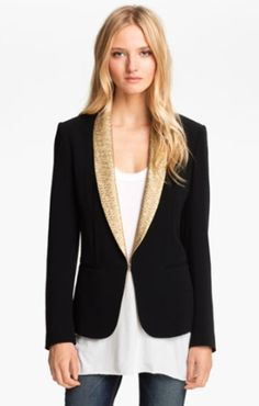 Love this look! rag & bone Tuxedo Jacket available at Nordstrom Lou Fashion, All Black Fashion, Daily Fashion, Autumn Fashion, Fashion Outfits, Cute Jackets, Jackets For Women, Black Tuxedo Jacket, Blazers