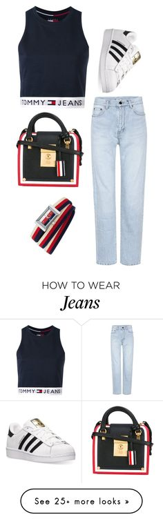 """#560"" by anna-siegl on Polyvore featuring Yves Saint Laurent, Tommy Hilfiger, adidas, Thom Browne and Gucci"