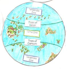 "Free printable minibook. Click on word ""Hemispheres"" to download. The minibook has several circle pages that stick to the top or bottom or sides so they could open to show the different lines of longitude or latitude."