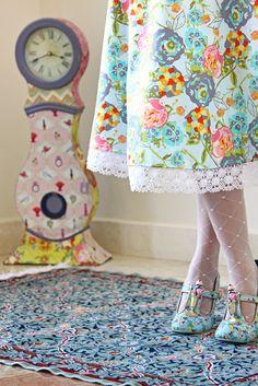 LillyBelle Garden Skirt {Garden Rocket Turquoise}