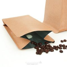 Coffee Bag with degassing valve. Ideal for coffee, teas, and food packaging in general.