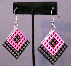 Plastic Canvas Earrings — Crafthubs