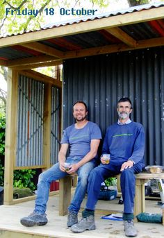 Kiwi blokes and their sheds. (the hut that John built!