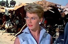 1956 - Doris Day in 'The Man That Knew Too Much' - she was one of Hitchcock's muses (also with Jimmy Stewart)