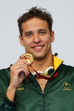 Gold medallist Chad le Clos of South Africa