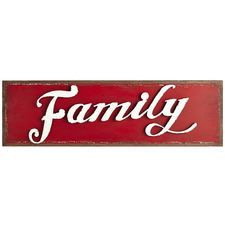 Family Wall Decor - Red
