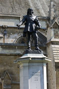Oliver Cromwell, England's Lord Protector, commemorated outside the Houses of Parliament in London Early Modern Period, Continental Europe, Irish Sea, Houses Of Parliament, Republic Of Ireland, In Ancient Times, England Uk, British History, British Isles