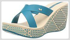 Ipanema Lipstick Straps, Damen Zehentrenner  Blau Bleu (90044 Blue/Beige) 41-42 - Zehentrenner für frauen (*Partner-Link)