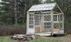 Greenhouse Constructed Using Antique Windows — After Dinner Design