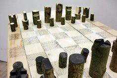 Originelle DIY Schachfiguren aus Schrauben, Muttern und Bolzen