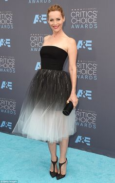 Princess glam: Leslie Mann oozed elegance on Sunday at the 21st Annual Critics' Choice Awards in Los Angeles