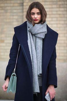 Oversize Schal und Mantel