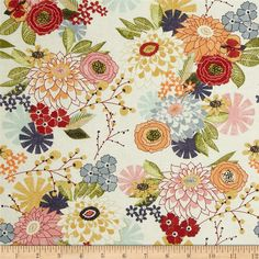 Moda Fabric: PB Daisy Mae, Creamy Ivory...this would make beautiful napkins or a table runner.