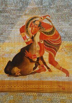 Gopala: from the Vaatsalya series. Oil on canvas. #Krishnafortoday