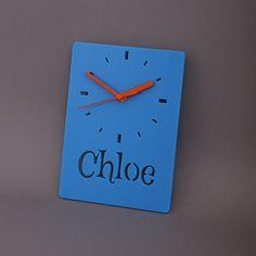 Mini Name Clock Acrylic, Bespoke, Bespoke Acrylic, Clocks, Custom, Customise, Home Accessories, Homeware, Personalise, Perspex