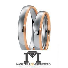 Verighete AUR ALB SI AUR ROZ MDV138 #verighete #verighete3mm #verigheteaur #verigheteauraplicatie #magazinuldeverighete Aur, Rings For Men, Wedding Rings, Engagement Rings, Model, Jewelry, Diamond, Rings For Engagement, Jewellery Making