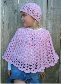 Lacy+Shell+Crochet+Pattern | Crochet Poncho Pattern List – Yarn Methods: Knitting, Crochet