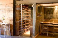 Italian restaurant, wine safe