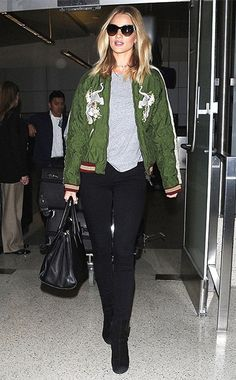 Rosie Huntington-Whiteley wearing a Chloé Tech-satin Bomber Jacket http://api.shopstyle.com/action/apiVisitRetailer?id=495775038&pid=uid7729-3100527-84&pid=uid7729-3100527-84. #style #celebstyle
