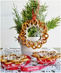 .. chute a vône mojej kuchyne...: Jedlé vianočné ozdoby z praclíkov