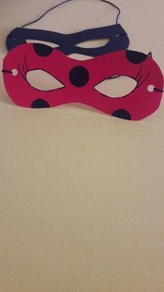 Máscaras Ladybug e Catnoir
