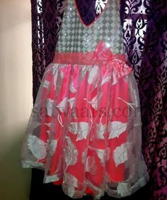 Indian Dresses: Baby Pink and Silver Kids Frock