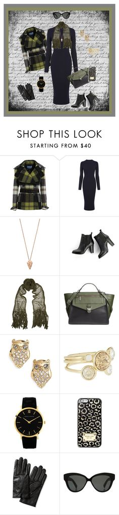 """A Touch of Fall Green"" by krusie ❤ liked on Polyvore featuring Warehouse, Pamela Love, SWEET MANGO, Étoile Isabel Marant, Danielle Nicole, Kate Spade, Ted Baker, Larsson & Jennings, MICHAEL Michael Kors and Banana Republic"